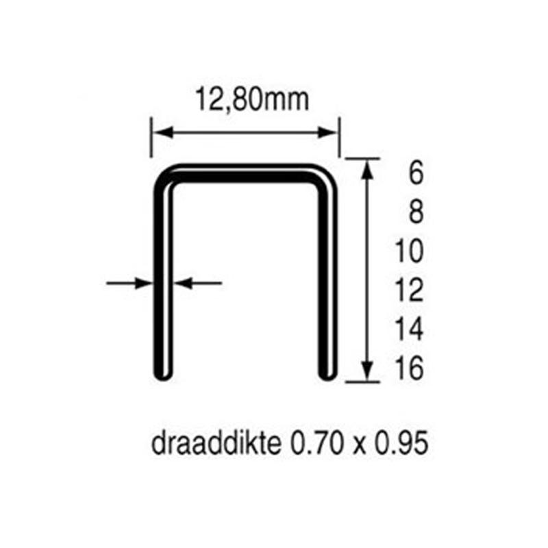 Dutack Nieten 800-6 mm gegalvaniseerd