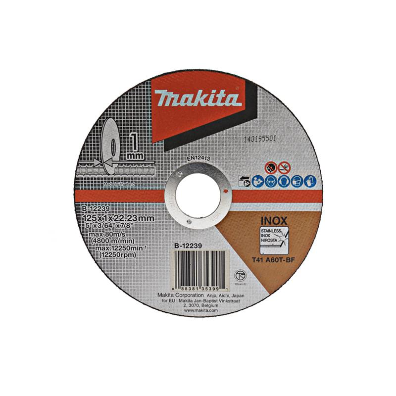 Makita Doorslijpschijf RVS 125x22,23x1,0mm B-12239