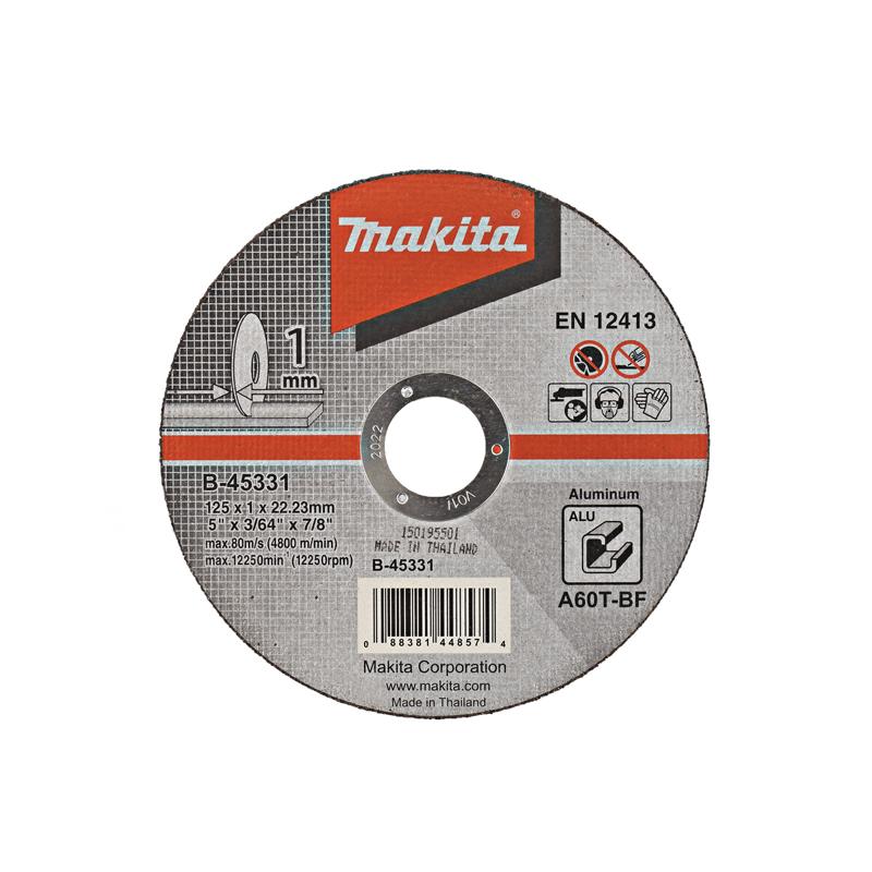 Makita Doorslijpschijf Aluminium 125x22,23x1,0mm B-45331