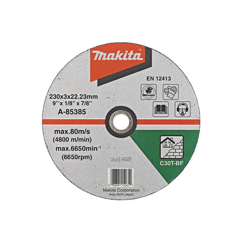 Makita Doorslijpschijf Steen 230x22,23x3,2mm A-85385